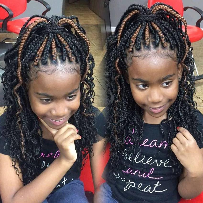 Hairstyle Kids Box Braids Hairstyle