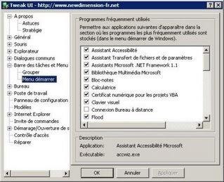 Modifiez les paramètres de Windows avec Tweak UI
