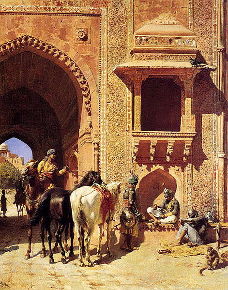 ملف:Weeks Edwin Gate Of The Fortress At Agra India.jpg