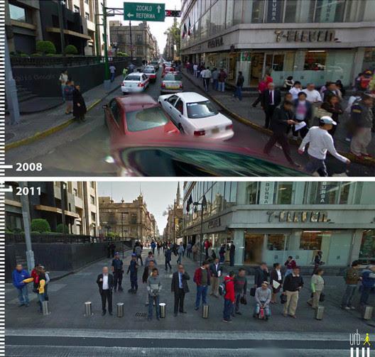 Avenida Francisco I Madero, Cidade do México. Cortesia de Urb-I