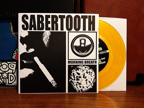 "Sabertooth - Morning Breath 7"" - Yellow Vinyl by Tim PopKid"