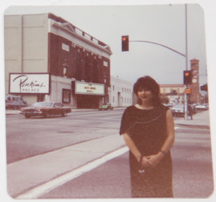 Photo of Ruth Polsky by Anthony H Wilson - Half the Wilson dream fulfilled New Order on a palm-lined street in Pasadena - your agent is chuffed, 6/11/81
