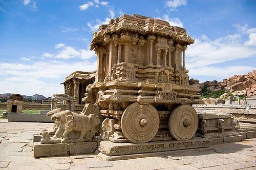 Stone Chariot at Vittala Temple - Hoysala