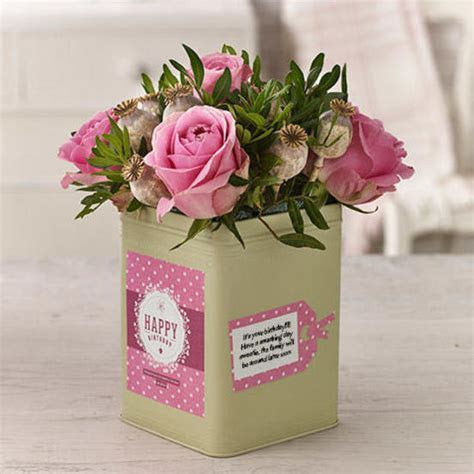 Birthday Blush ? Flowercard   Thinking of You