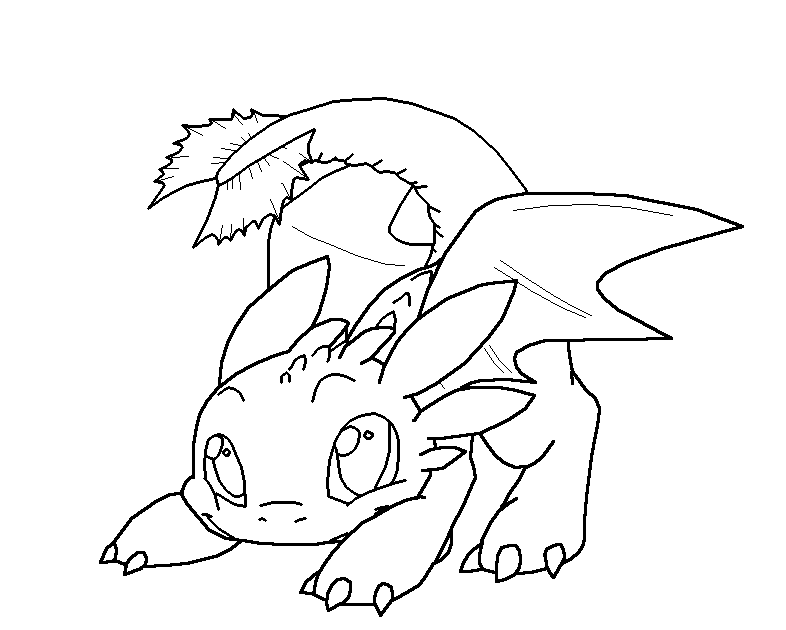 Toothless Cute Baby Dragon Coloring Pages | aesthetic cute ...