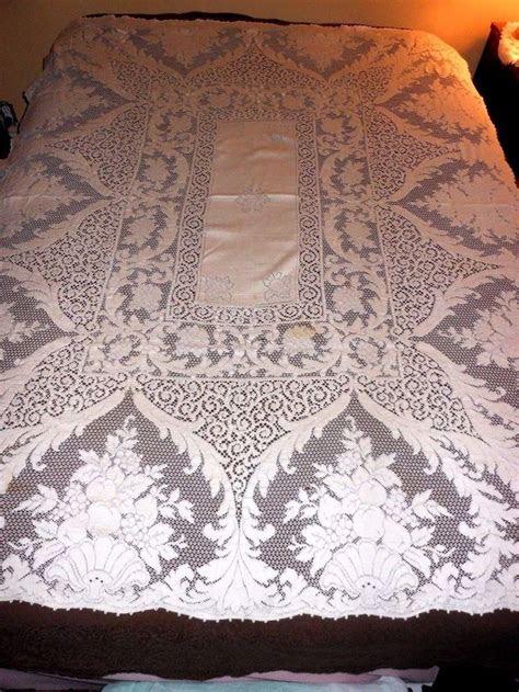 quaker lace tablecloths images  pinterest lace