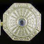 Huger Art Deco sapphire cufflinks. (J9278)