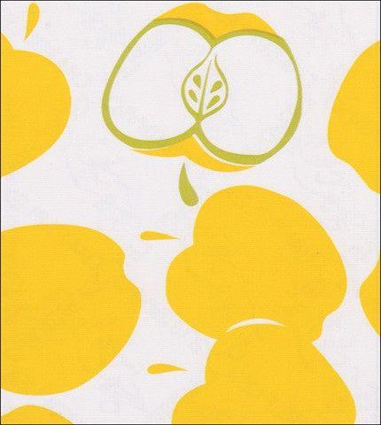 Mod Apple Yellow Oilcloth Fabric