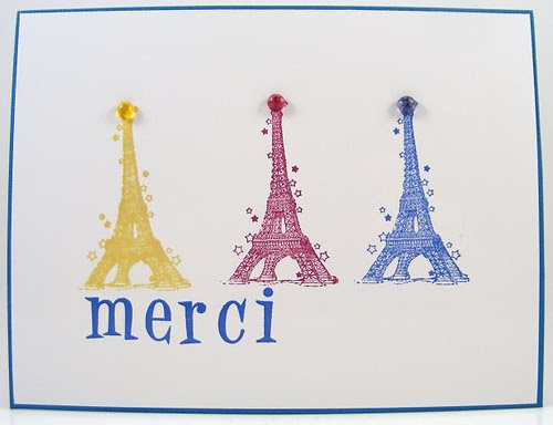 Eiffels Merci Card