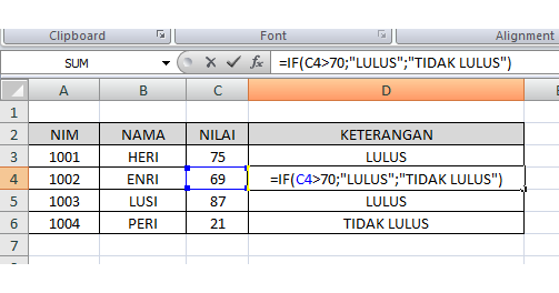 Fungsi If Fungsi Vlookup Dan Fungsi Hlookup Dalam Microsoft Excel Annisaayunitha 0217101247