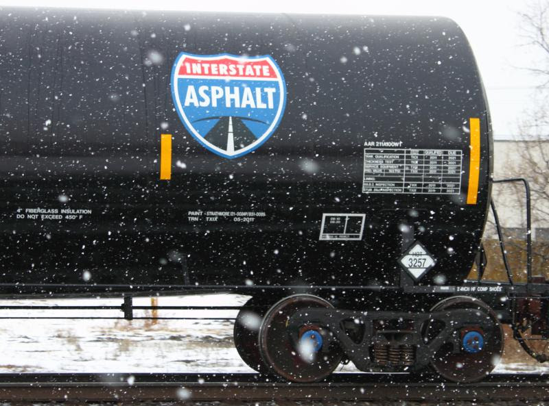Interstate Asphalt Tank Cars in Winnipeg