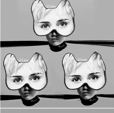 Sobre as cabeças parecem máscaras gatinho - representando Programação Kitten.