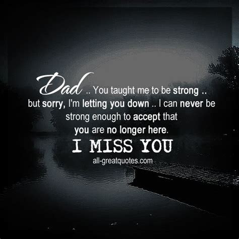 I Miss You Dad Short Quotes