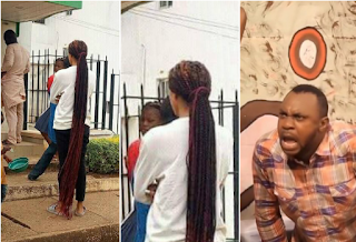 Nigeria's 'Rapunzel' spotted yesterday at a bank in Jos (Photos)