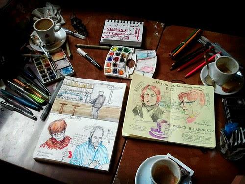 Dibujo café .