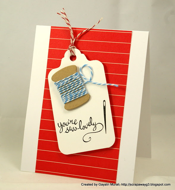 You are sew lovely card