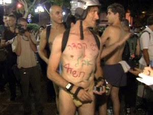 Marcha ciclonudista en Tel Aviv contra la imposición del casco