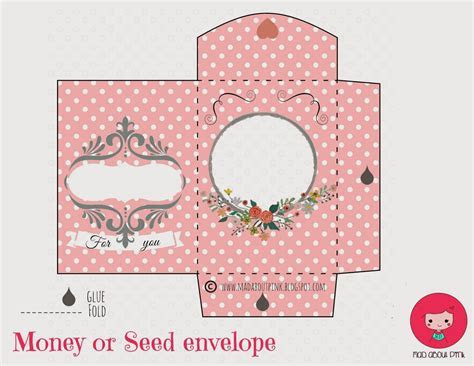 Mad About Pink: Lovely money or seed envelope   free printable