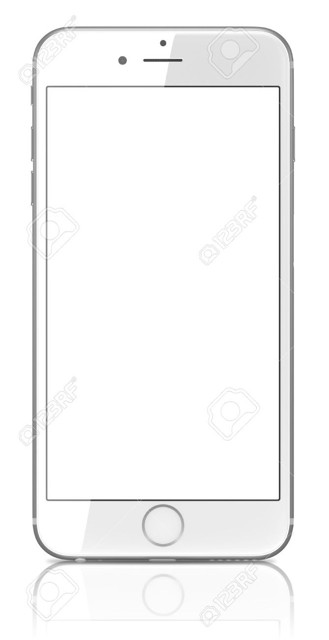 Apple Silver IPhone 6 Plus With Blank Screen.The New IPhone With ...