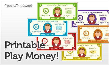 FREE Printable Play Money and Printable Play Checks | Free ...