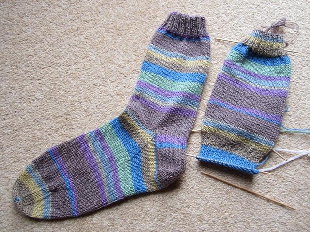 Plain vanilla socks no6 WIP