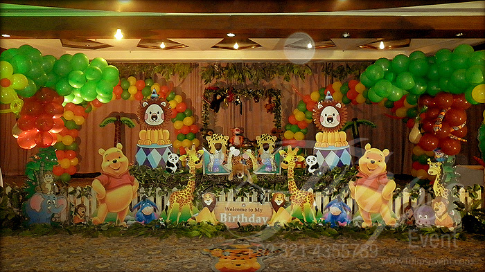 Tulipsevent Best Jungle Safari Zoo Themed Birthday Party Planner