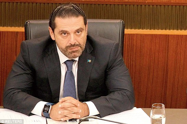 Lien libanais: Saad Hariri, qui a démissionné du poste de Premier ministre libanais, aurait été détenu en Arabie saoudite par les gardes de Blackwater du président de son pays, mais il a supprimé le tweet