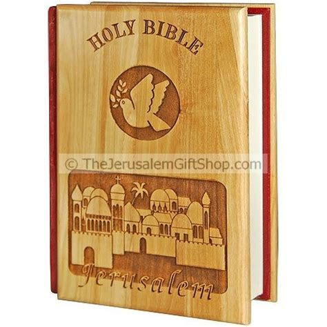 Bible King James Version Olive Wood Jerusalem
