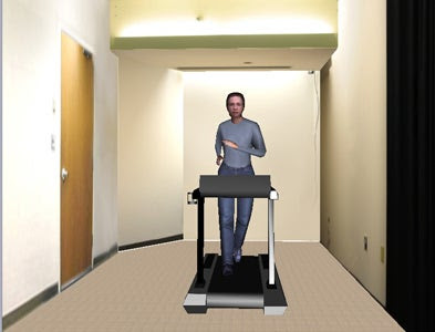 Researchers found that study participants who saw their own avatars running were more likely to exercise after they left the lab than participants who saw someone else's avatar exercising or saw themselves hanging out in a virtual room.