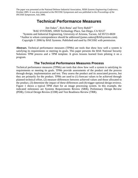 (PDF) 11.1.1 Technical Performance Measures