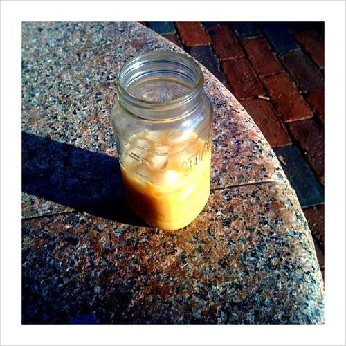Iced coffee tastes better in a Mason Jar.