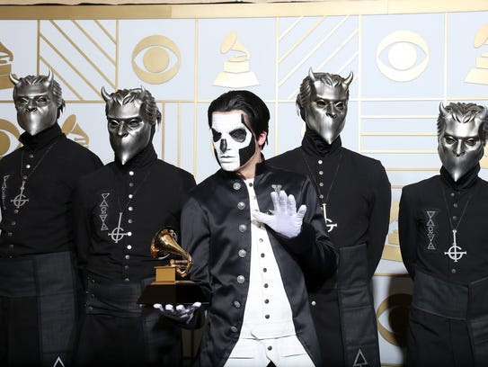 Best Metal Performance for 'Cirice,' poses in the press