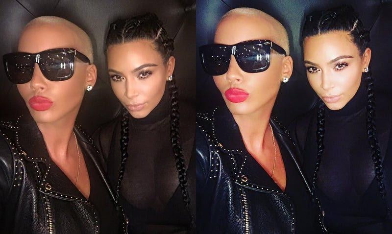 amber rose and kim kardashian picture