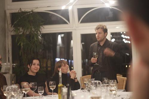 Matthieu gives a speech