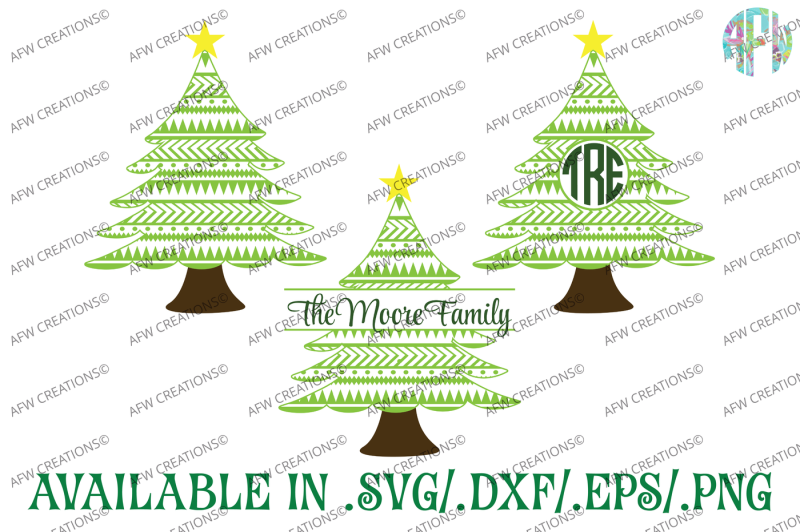 Download Free Aztec Christmas Trees Svg Dxf Eps Cut Files Crafter ...