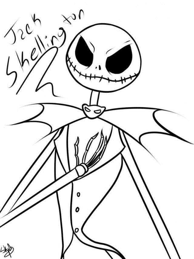 Jack Skellington Coloring Pages 179878 Jack Skellington Coloring