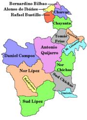 Provincia Nor Lípez: departamento de Potosí (Bolivia)