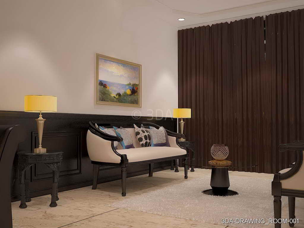Modern Minimalism Style Drawing-room Interior Stock Image ...