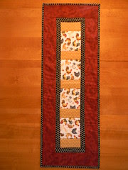 Quilt as you go table runner.