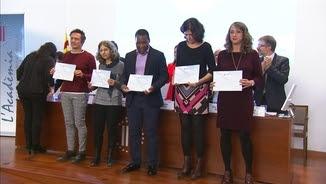 Alguns dels projectes premiats a La Marató 2017, dedicada a les malalties infeccioses
