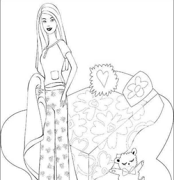 barbie bedroom coloring pictures