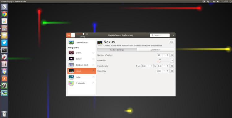 configurações gui live wallpaper