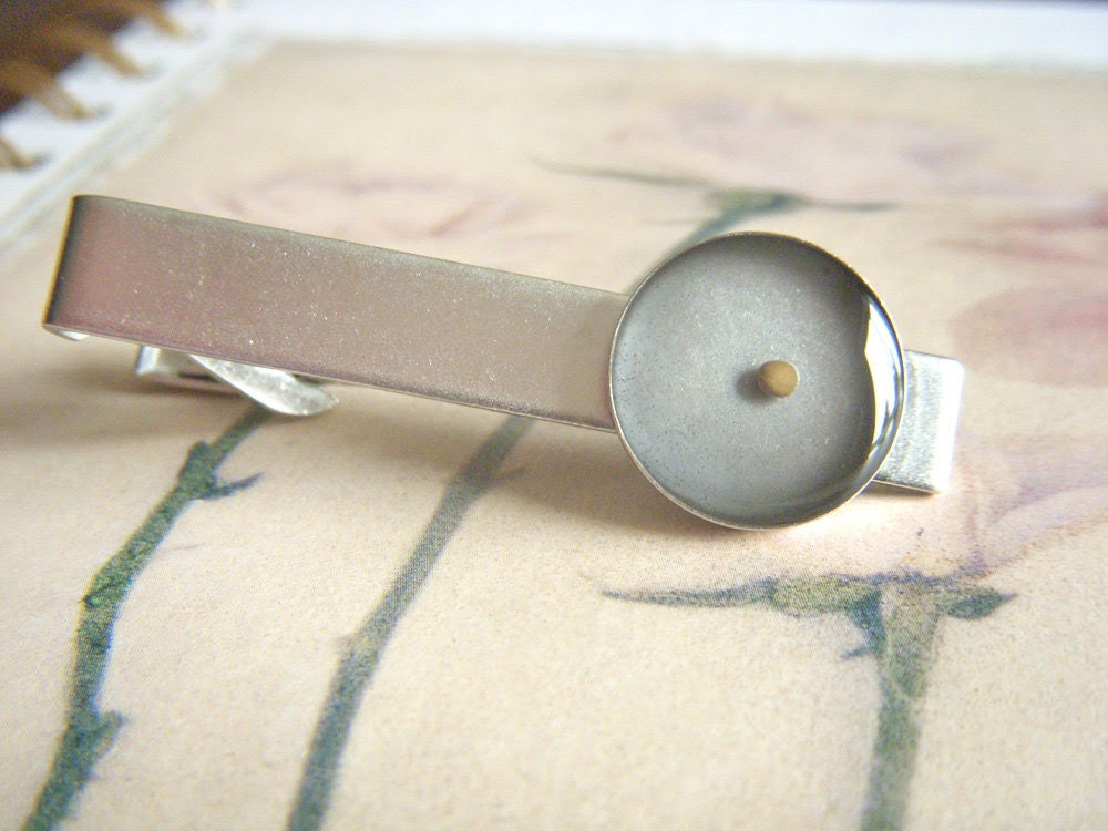 faith as small as a mustard seed - antique matte silver tie clip