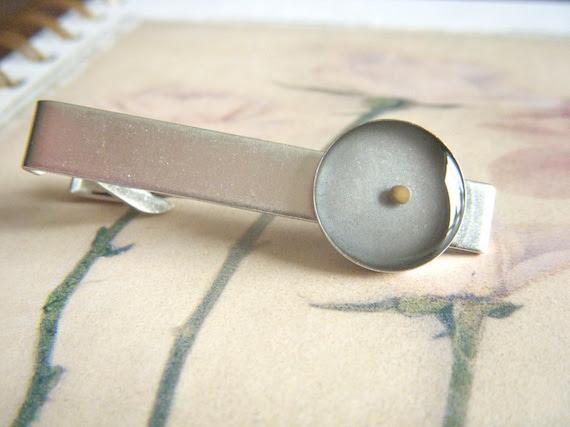 faith as small as a mustard seed - antique matte silver tie clip