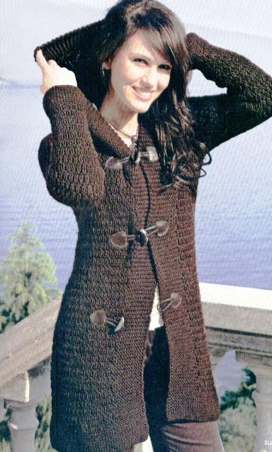 Стильная одежда для девушек: Вязаная Кофта С Капюшоном