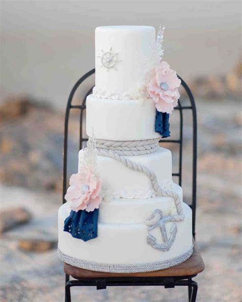 30 Amazing Beach Wedding Cakes   Martha Stewart Weddings