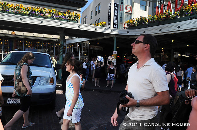 Pike Place crowd