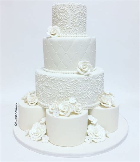 White Henna Indian Wedding Cake   The Hudson Cakery