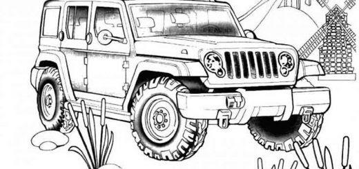 ausmalbilder polizei jeep  malvorlagen