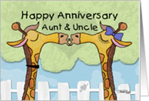 Wedding Anniversary Cards for Aunt & Uncle from Greeting